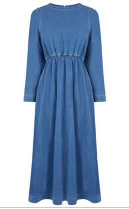 warehouse denim dress 2