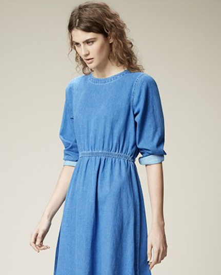 warehouse denim dress